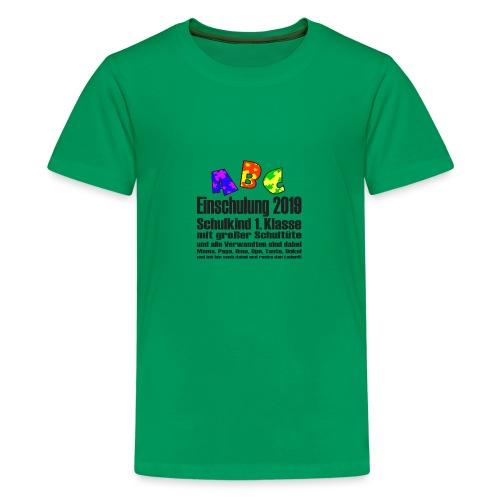 Einschulung Jahr 2019 - Teenager Premium T-Shirt