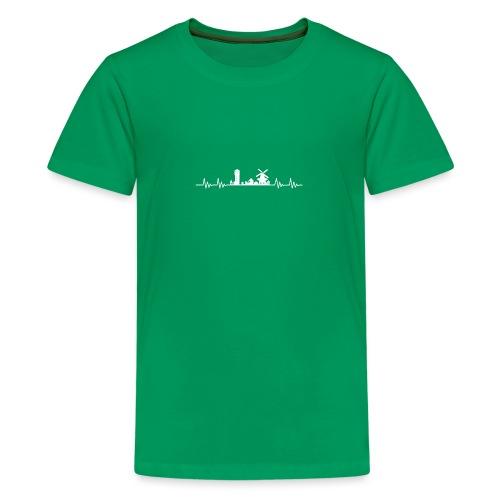 Med hart de slæ for Hæwe! - Teenager premium T-shirt