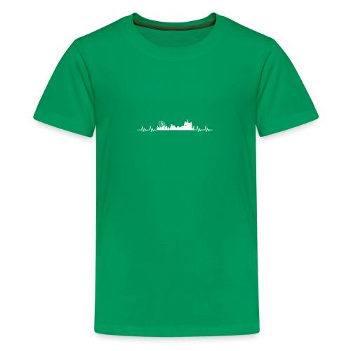 Med hart de slæ for Kloste! - Teenager premium T-shirt