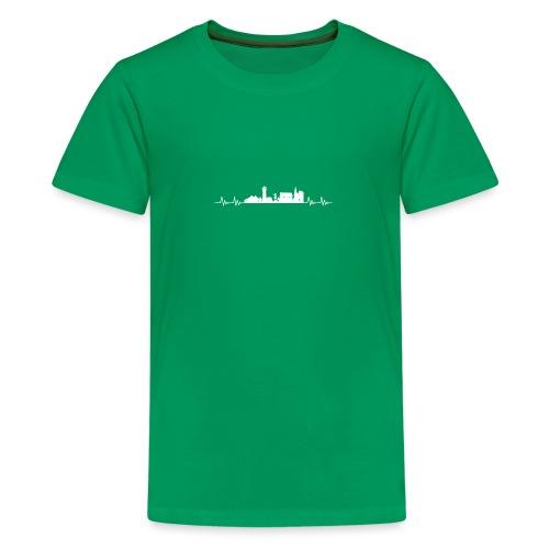 Med hjert de slæ for Tynne! - Teenager premium T-shirt