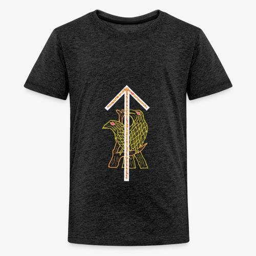 Rune Tiwaz + Hugin + Munin - Teenager Premium T-Shirt