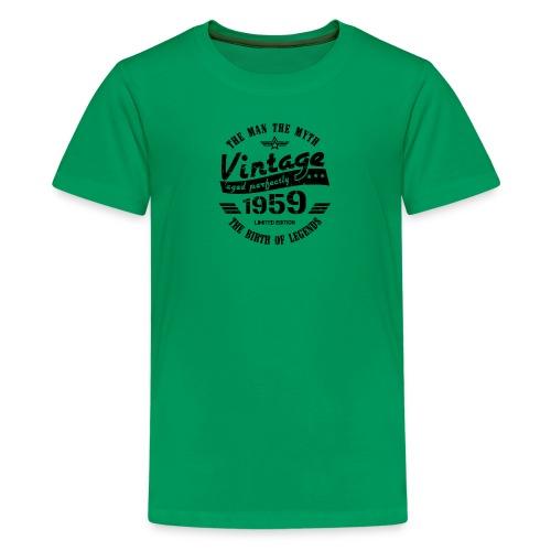 Vintage 1959 60th Birthday - Teenage Premium T-Shirt