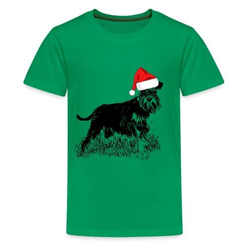 Weihnachten Zwergschnauzer Hund Schnauzer Geschenk - Teenager Premium T-Shirt