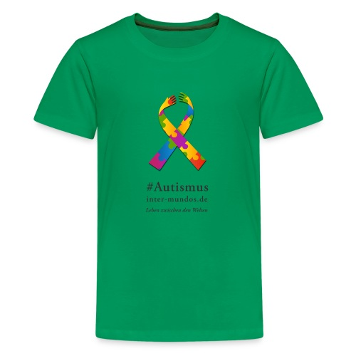 Inter-Mundos Autismus-Schleife - Teenager Premium T-Shirt