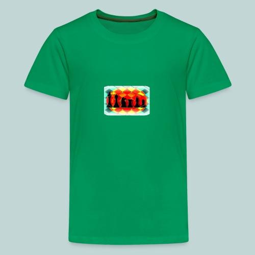 Schachfigurengruppe vignettiert - Teenager Premium T-Shirt