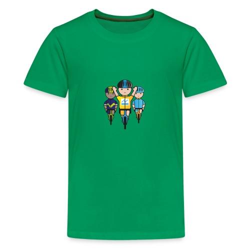 Mini-Racers-Finish - Teenage Premium T-Shirt