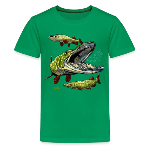 Cool Pike Fishing T-shirt, Hoodie and Products - Teinien premium t-paita