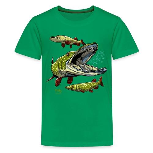 HAUKI Tekstiilit ja lahjat - Teinien premium t-paita