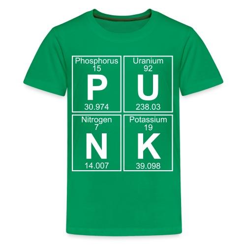 P-U-N-K (punk) - Full - Teenage Premium T-Shirt