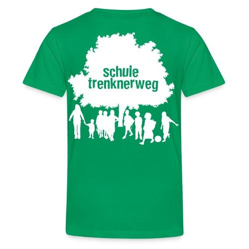 logo trenknerweg white 2 - Teenager Premium T-Shirt