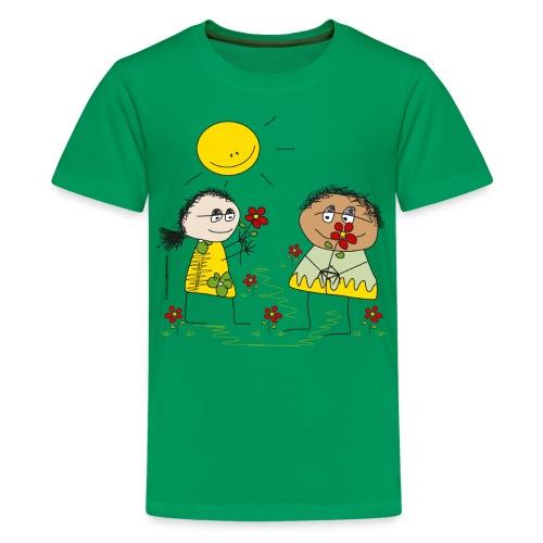 022 blumenkinder 4000x4000px - Teenager Premium T-Shirt