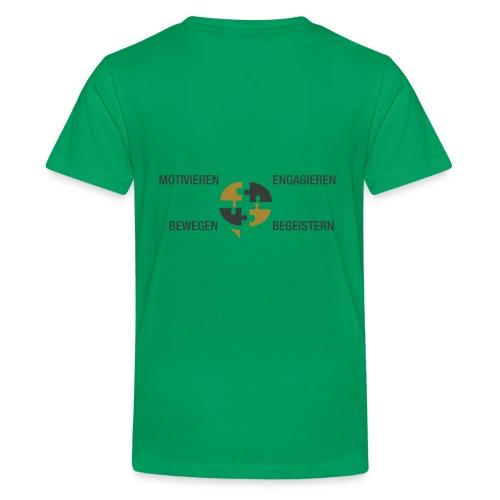 Ein Puzzel setzt sich zusammen - Teenager Premium T-Shirt