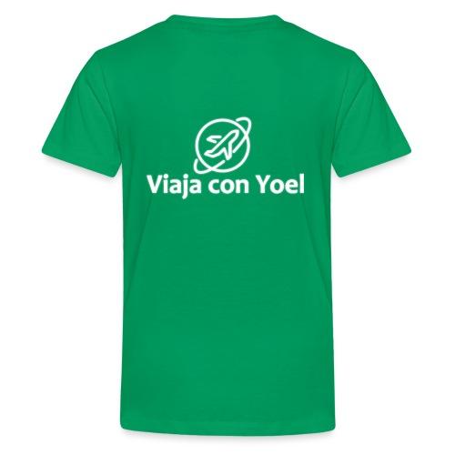 Viaja con Yoel White Logo - Camiseta premium adolescente