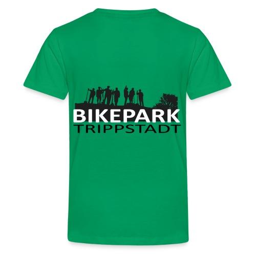 Bikepark staff in schwarz - Teenager Premium T-Shirt