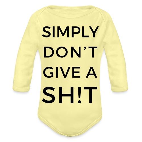 SIMPLY DON'T GIVE A SH!T - Body ecologico per neonato a manica lunga