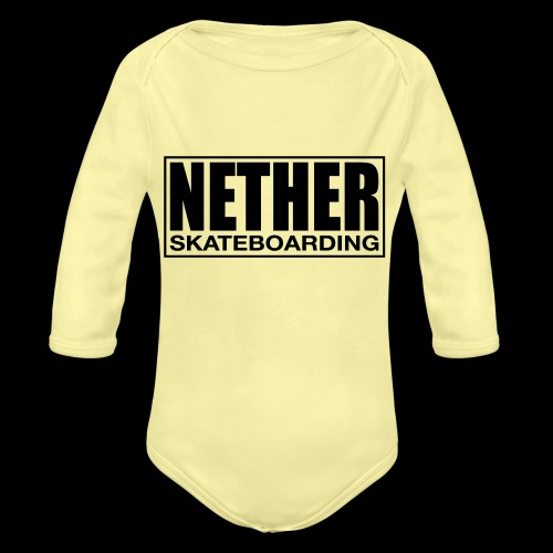 Nether Skateboarding T-shirt White - Body ecologico per neonato a manica lunga