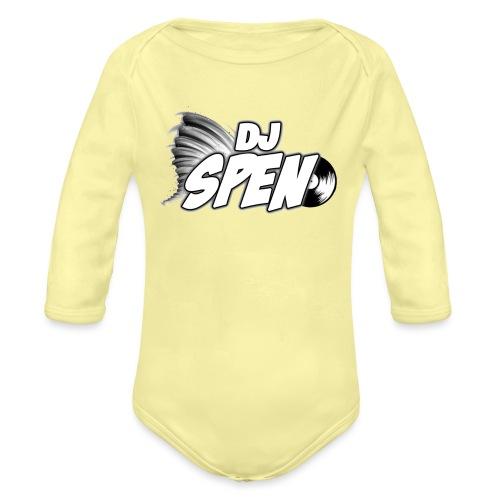 DJ Spen Long Logo - Organic Longsleeve Baby Bodysuit