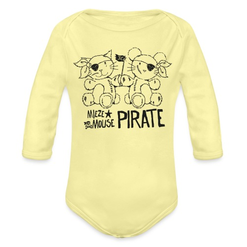 MIEZEMOUSE PIRATE - Baby Bio-Langarm-Body