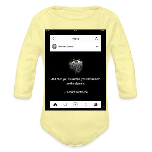 81F94047 B66E 4D6C 81E0 34B662128780 - Organic Longsleeve Baby Bodysuit