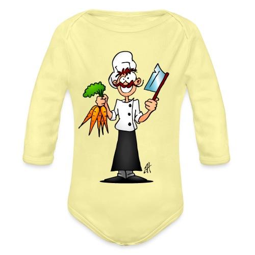 The vegetarian chef - Organic Longsleeve Baby Bodysuit