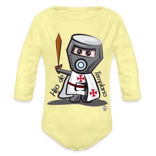 Hijo de templario (Casco) - Body orgánico de manga larga para bebé
