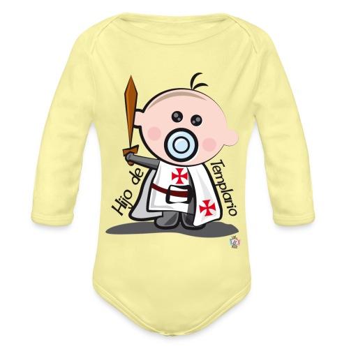 Hijo de templario - Body orgánico de manga larga para bebé