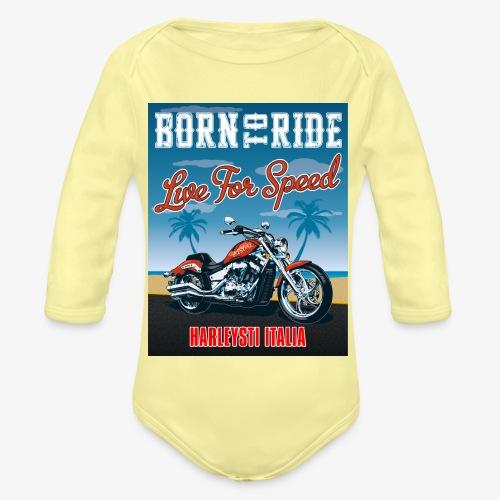 Summer 2021 - Born to ride - Body ecologico per neonato a manica lunga