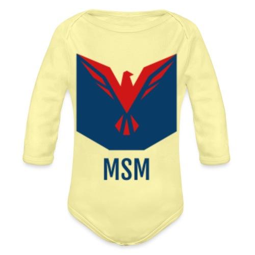 MSM ORIGINAL - Langærmet babybody, økologisk bomuld