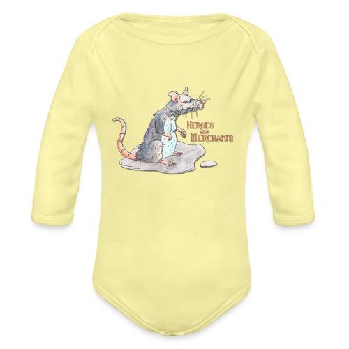 Rat - Baby Bio-Langarm-Body