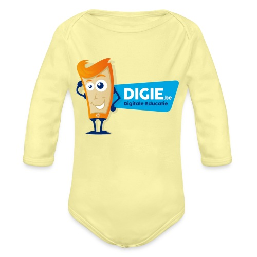 Digie.be - Baby bio-rompertje met lange mouwen