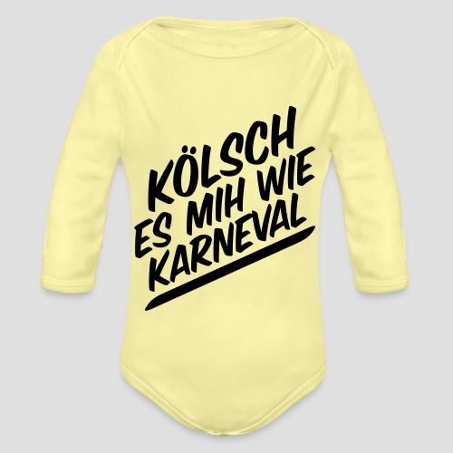 daeHoot Karneval - Baby Bio-Langarm-Body
