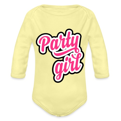 Party Girl - Baby bio-rompertje met lange mouwen