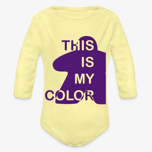 That is my Color - Økologisk langermet baby-body