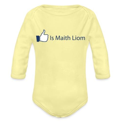 like nobg - Organic Longsleeve Baby Bodysuit
