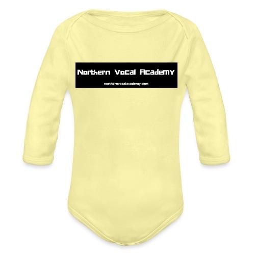 Northern Vocal Academy Logo - Organic Longsleeve Baby Bodysuit