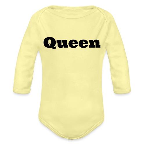 Snapback queen rood/zwart - Baby bio-rompertje met lange mouwen
