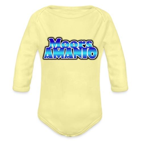 MoorsAmanioLogo - Baby bio-rompertje met lange mouwen