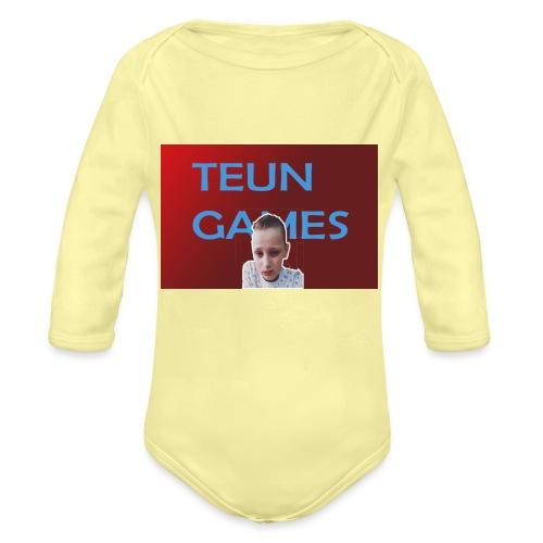 TeunGames foto - Baby bio-rompertje met lange mouwen