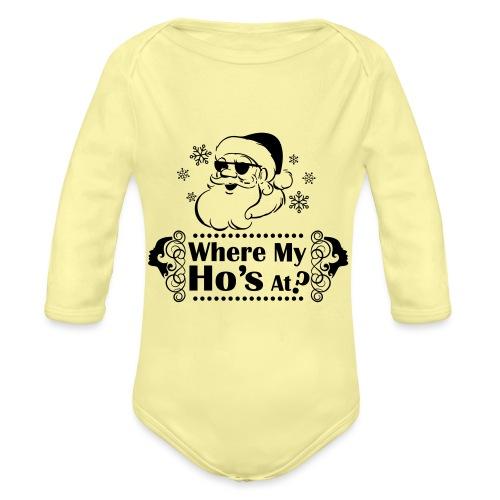 Where_My_Hos_at - Vauvan pitkähihainen luomu-body