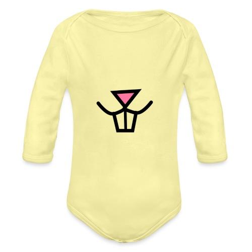 Bunny Big Nose - Organic Longsleeve Baby Bodysuit