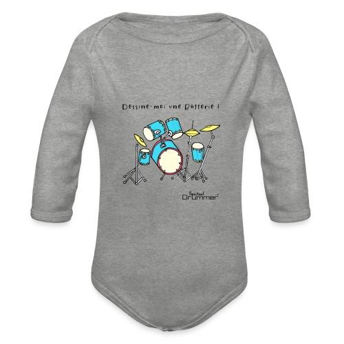 Luigi Drum - Organic Longsleeve Baby Bodysuit