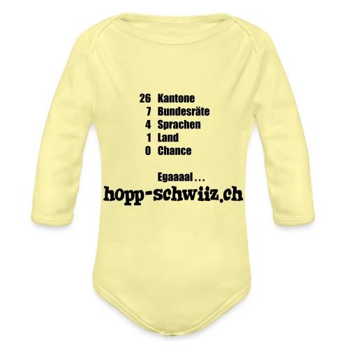 Egal hopp-schwiiz.ch - Baby Bio-Langarm-Body