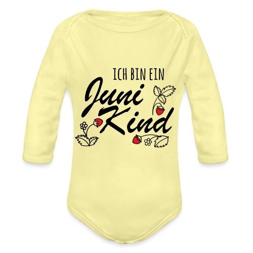 Juni Geburtstag Kind Shirt lustiges Geschenk - Baby Bio-Langarm-Body