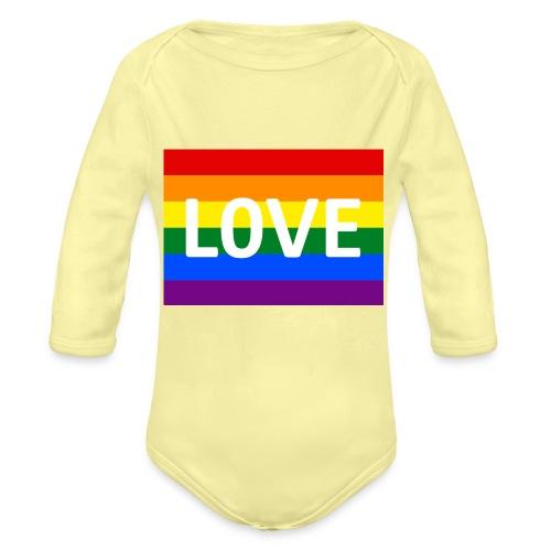 LOVE CAP - Langærmet babybody, økologisk bomuld