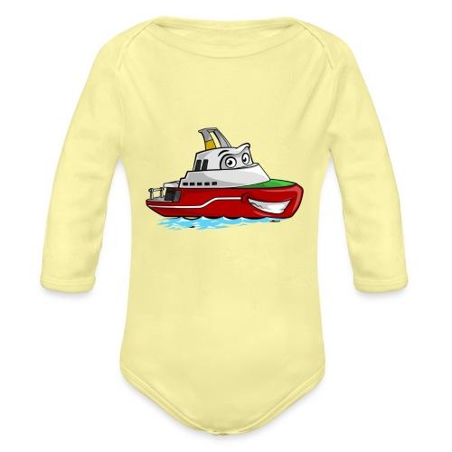 Boaty McBoatface - Organic Longsleeve Baby Bodysuit