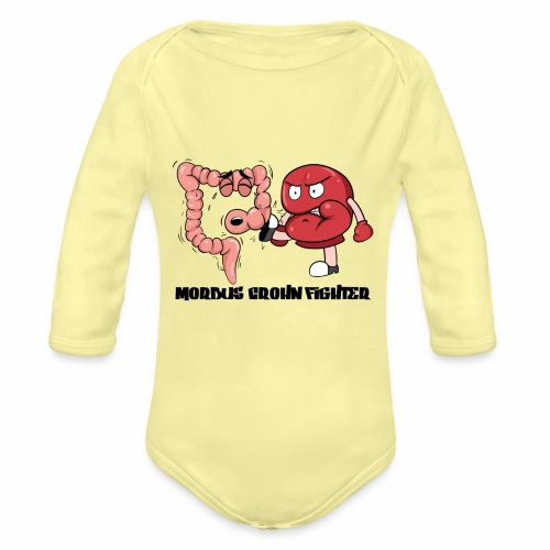 Morbus Crohn Kämpfer - Baby Bio-Langarm-Body
