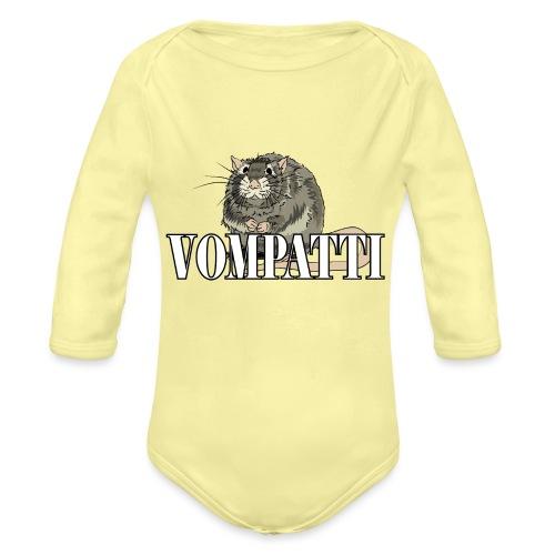 Vompatti - Vauvan pitkähihainen luomu-body