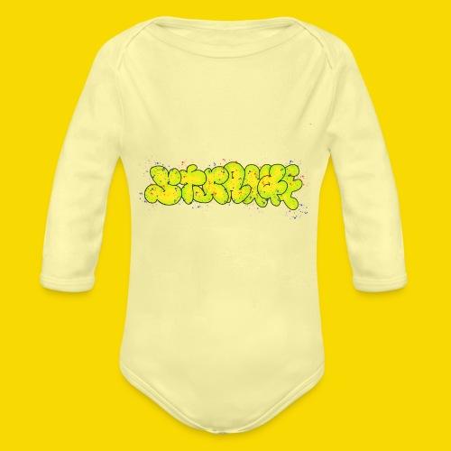 Strange Graffiti - Ekologiczne body niemowlęce z długim rękawem