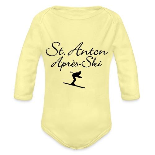 St. Anton Après-Ski Skifahrer - Baby Bio-Langarm-Body