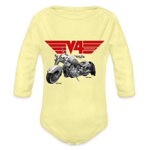 V4 Motorcycles red Wings - Baby Bio-Langarm-Body